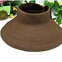 Mens Casual Summer Plain Sun-Resistant Straw Hat
