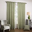moderne due pannelli novità verdi tende a pannelli di cotone tende camera da letto