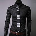 camisa de manga larga camisa de cuello pastilla de Hengyi hombres
