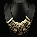 Womens Leather Leopard Necklace