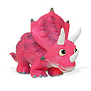 Figuras dinosaurio Lindo dinosaurio Modelos juguete suave de la historieta de acción (Triceratops, rosa)