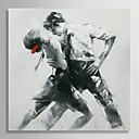 Oil Painting People Tango Dancer with Stretched Frame Hand-Painted Canvas