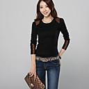 camiseta de Corea del estilo de cuello redondo de las mujeres hansifei
