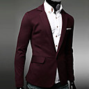 Hengyi Men's Tailor Collar Sheath Casual Suit Blazer