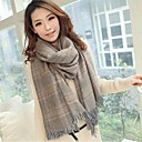 Unisex Korean Winter Dual Plaid Wool Scarf