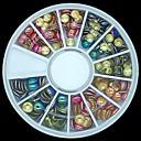 180pcs mezcló el color y el tamaño 3d roca redonda decoración del arte del clavo clavos de metal de la rueda