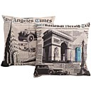 Createforlife 18 Set of 2 Cartoon Arch of Patterns Pillow Case Cushion