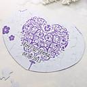 Corazón en forma personalizada Jigsaw Puzzle - Floral Print