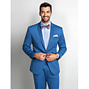 Blue Polester Standard Fit Two-Piece Suit