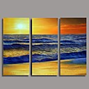 Hand Painted  Sea Landscape Oil Painting Landscape with Stretched Frame Set of 3