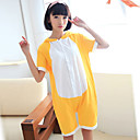 Unisex Cute Rilakkuma Yellow Cotton Kigurumi Pajama For Summer