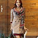 cuello de la solapa del estilo de Corea del sobretodo de las mujeres hansifei