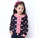 Girls O-neck Lolita Style Love Patten Long Sleeve Hand Knitted Sweaters
