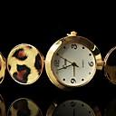 la moda del leopardo relojes simples magníficos de las mujeres