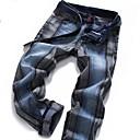 Men's Rock Revival Jeans Red Color Buckle Slim Long Pants Jeans