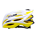 kingsir 23 respiraderos eps  pc, amarillo, blanco integralmente moldeado casco de ciclo (58-62cm)