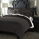3-Piece Negro Classic Plaid Jacquard (300 hilos) duvet cover set