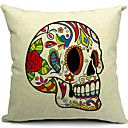 Modern Corlorful Skeleton Cotton/Linen Decorative Pillow Cover