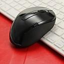 Mouse Óptico Inalámbrico Negro  Receptor de 2.4GHz USB