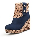 Flocking Womens Wedge Heel Booties/Ankle Boots (More Colors)