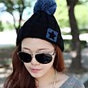 2014 Corea del nuevo invierno sombrero hecho punto de las mujeres