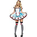Alices Adventures in Wonderland Poker Pattern Womens Halloween Costume