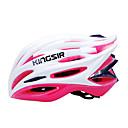kingsir 23 respiraderos eps  pink pc blanco integralmente moldeado casco de ciclo (58-62cm)