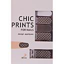 YeManNvYou14PCS Black Spot Design Transparent Lace Nail Art Ultrathin Stickers