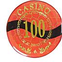 100 oro bloqueando mahjong suite de chip con juguetes caseros signo anti-falsificación