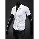 Camisa Casual Camiseta de manga corta Kuxing Hombre (Blanco)