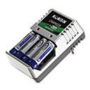 Kongin Battery Charger for AA/AAA/9V/Ni-MH/Ni-Cd with EU Plug(Included 4xAA)