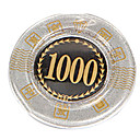 1.000 dólares de bloqueo de oro redondeado mahjong suite de chip con juguetes caseros signo anti-falsificación