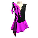 Girls Purple and Black Spandex Lace Figure Skating Dress(Assorted Size)