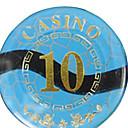 10 de bloqueo de lujo del oro redondeado mahjong suite de chip con juguetes signo anti-falsificación