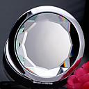 1 PC de cristal y doblar doble Caras Mirror Portable Cosmetic