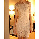 Nine Women's Bateau Lace Bodycon Dress