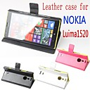 Fashion Leather Flip Case Cover for Nokia Luima 1520 Smartphone 3-color