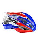 boodun 21 respiraderos rojo bicicleta de carretera azul moldeada integralmente casco de ciclo (56-62cm)