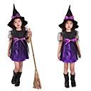 Bruja linda púrpura del Cabo Kid traje de Halloween