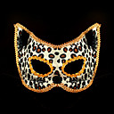 Catwomen leopardo no tejida máscara de Halloween