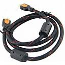 1080P HDMI V1.4 macho a macho cable extensor HD - Negro (200cm)