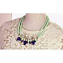 MIKI Floral Gemstone Pearl Diamante Necklace