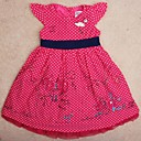 Childrens Dress Party Dresses Round Collar Overall Polka Dots Print Summer Princess Dress Girls Dresses