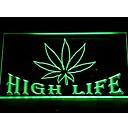403 Marijuana cáñamo Hoja High Life Bar luz de neón de
