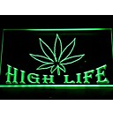 403 Marijuana Hemp Leaf High Life Bar Neon Light Sign