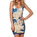 Womens Sea-Land Map Sleeveless Dress
