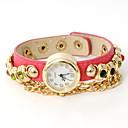 atreven u Moda multicolor envuelto reloj de la cadena