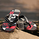 Image For Quiksilver Men's Beach Sports Plaid Pattern BlackRed Flip Flops BG005