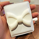 1 PC Portable Cuero bowknot encantadora Mini Folding Refinar The Make Up Mirror