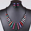 Womens Classic  Resin (NecklacesEarrings) Square Gemstone Jewelry Sets